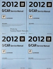 2012 GM G/Car Service Manual  Buick LaCrosse Volume 1, 2, 3, 4