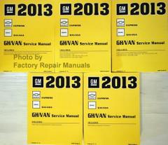 2013 Chevy Express GMC Savana Van Service Manual Volume 1, 2, 3, 4, 5