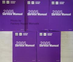 2005 Chevy Express GMC Savana GH Van Service Manual Volume 1, 2, 3