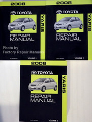 2008 Toyota Yaris Repair Manual Volume 1, 2, 3