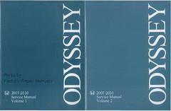 Honda 2007-2010 Service Manual Volume 1 and 2 Odyssey