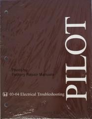 Honda Pilot 2003 2004 Electrical Troubleshooting Manual