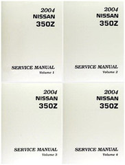 2004 Nissan 350Z Coupe & Roadster Service Manual Volume 1, 2, 3, 4