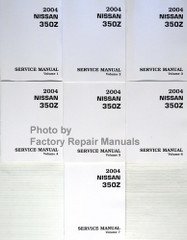 2004 Nissan 350Z Roadster Service Manual Volume 1, 2, 3, 4, 5, 6, 7