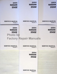 2004.5 Nissan 350Z Service Manuals Volume 1, 2, 3, 4, 5, 6, 7
