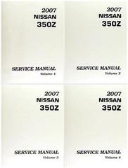 2007 Nissan 350Z Factory Service Manual - Complete 4 Volume Set