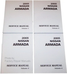 2005 Nissan Armada Factory Service Manual Set Shop Repair Print to Order