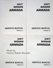 2007 Nissan Armada Service Manuals Volumes 1, 2, 3, 4