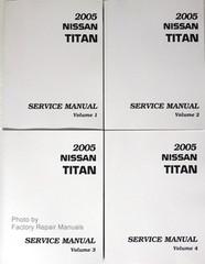 2005 Nissan Titan Factory Service Manual - Complete 4 Volume Set