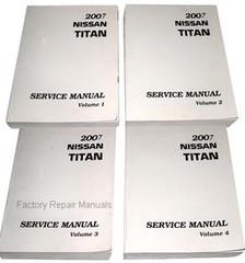 2007 Nissan Titan Factory Service Manual - Complete 4 Volume Set