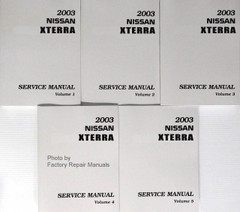 2003 Nissan Xterra Service Manual Volume 1, 2, 3, 4, 5