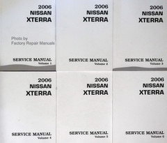 2006 Nissan Xterra Factory Service Manual Volume 1, 2, 3, 4, 5, 6