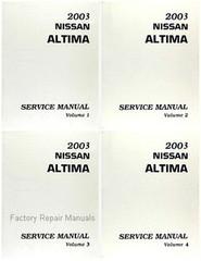 2003 Nissan Altima Factory Service Manual - Complete 4 Volume Set