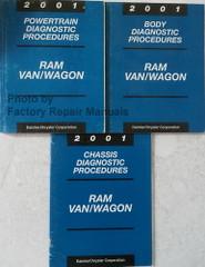 2001 Dodge Ram Van Wagon Diagnostic Procedures Manuals