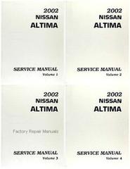 2002 Nissan Altima Factory Service Manual - Complete 4 Volume Set