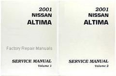 2001 Nissan Altima Factory Service Manual - Complete 2 Volume Set
