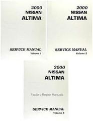 2000 Nissan Altima Factory Service Manual - Complete 3 Volume Set