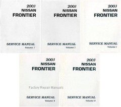 2003 Nissan Frontier Service Manual Volume 1, 2, 3, 4, 5