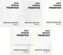 2004 Nissan Frontier Factory Service Manual - Complete 5 Volume Set