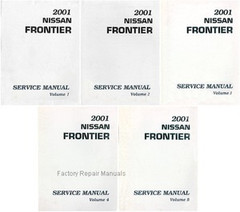 2001 Nissan Frontier Factory Service Manual - Complete 5 Volume Set