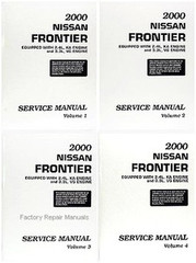 2000 Nissan Frontier Service Manual Volume 1, 2, 3, 4