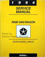 1994 Service Manual Ram Van/Wagon Rear Wheel Drive