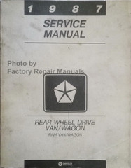 1987 Service Manual Rear Wheel Drive Van/Wagon