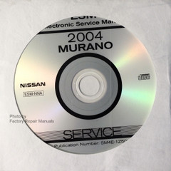 2004 Nissan Murano Original Factory Service Manual CD-ROM