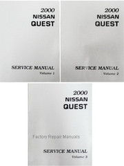 2000 Nissan Quest Factory Service Manual - Complete 3 Volume Set
