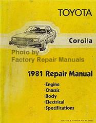 Toyota Corolla 1981 Repair Manual