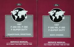 1997 Ford F-250HD F-350 F-Super Duty Workshop Manuals