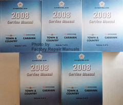2008 Service Manual Chrysler Town & Country Dodge Caravan Volume 1, 2, 3, 4, 5