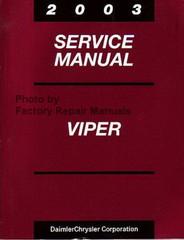 2003 Service Manual Dodge Viper