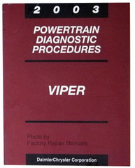 2003 Powertrain Diagnostic Procedures Viper