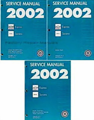 2002 Chevrolet Express GMC Savana Van Service Manual Volume 1, 2, 3