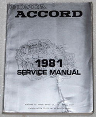 1981 Honda Accord Service Manual