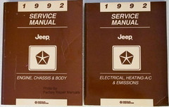 1992 Service Manual Jeep Engine, Chassis, Body, Electrical, Heating-A/C & Emissions