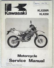 1993 KAWASAKI KLX250R Service Manual KLX 250 KLX250-D1 KLX250-E12 Factory Repair