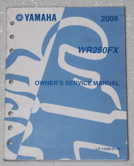 2008 YAMAHA WR250F Owners Service Manual WR250FX WR 250 Motorcycle Original Shop