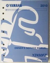 Yamaha 2010 Owner's Service Manua YZ450FZ