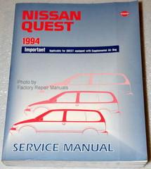 Nissan Quest 1994 Service Manual