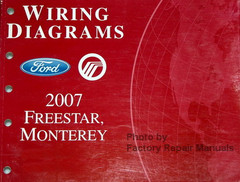 Wiring Diagrams Ford Mercury 2007 Freestar, Monterey