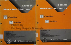 1997 Service Manual Chevrolet Geo Cavalier Pontiac Sunfire Volume 1 and 2