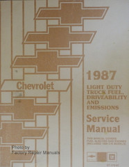 1987 Chevrolet Light Duty Truck Fuel, Driveability and Emissions Service Manual