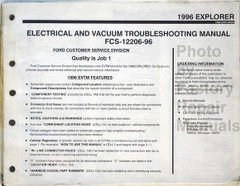 Ford 1996 Explorer Electrical Vacuum & Troubleshooting Manual