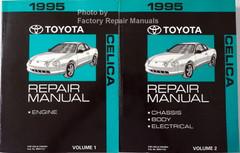 1995 Toyota Celica Factory Repair Manuals Volume 1 and 2