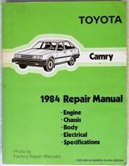 1984 Toyota Camry Repair Manual