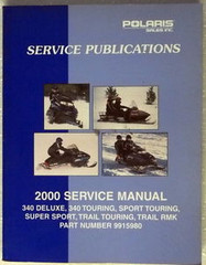 2000 Polaris Snowmobile Service Manual 340 Deluxe Touring Super Sport Trail RMK