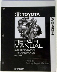 Toyota A540H Repair Manual Automatic Transaxle
