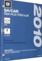 2010 GM SA Car Chevrolet Aveo, Pontiac G3 / Wave Service Manual Volume 1, 2, 3